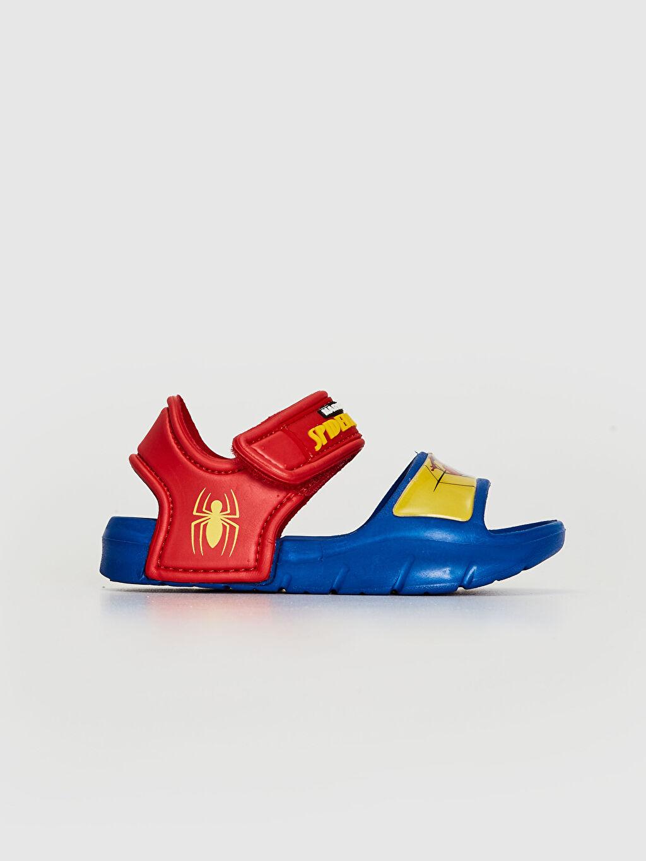Diğer malzeme (eva) Spiderman Cırt Cırt Işıksız Sandalet Erkek Bebek Spiderman Lisanslı Cırt Cırtlı Sandalet