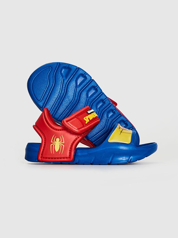 Erkek Bebek Spiderman Lisanslı Cırt Cırtlı Sandalet