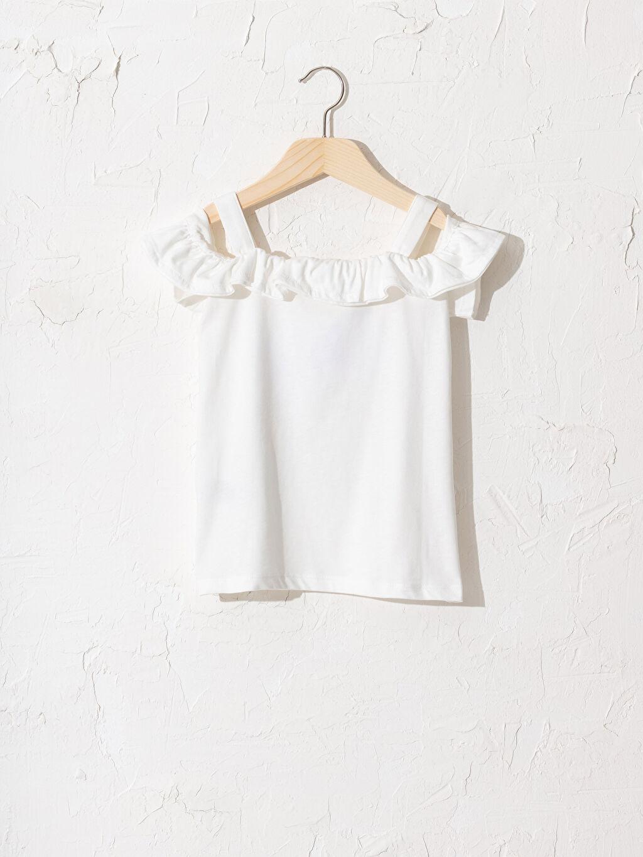 %100 Pamuk %100 Pamuk İnce Baskılı Tişört Kısa Kol Diğer Standart Kız Çocuk Omuzu Açık Baskılı Tişört
