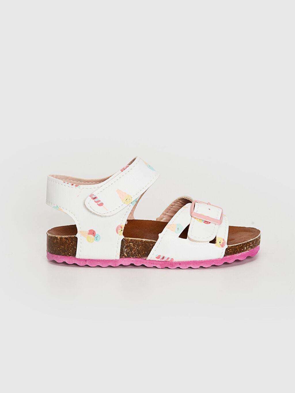 Beyaz Kız Bebek Toka Detaylı Cırt Cırtlı Sandalet 0SB460Z1 LC Waikiki