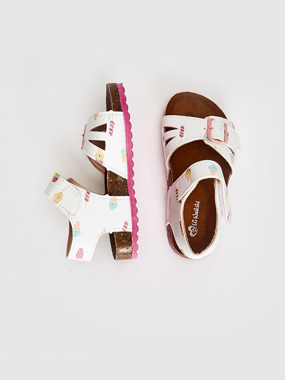 Kız Bebek Kız Bebek Toka Detaylı Cırt Cırtlı Sandalet