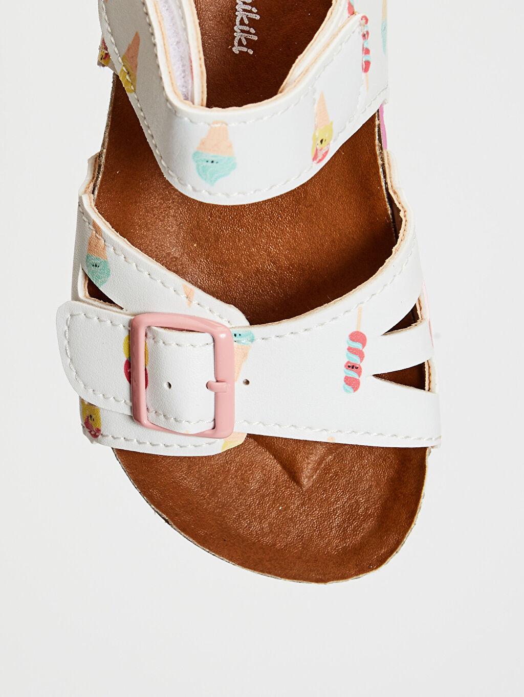 %0 Diğer malzeme (poliüretan) Cırt Cırt PU Astar Işıksız Sandalet Kız Bebek Toka Detaylı Cırt Cırtlı Sandalet