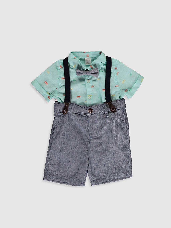 Mavi Erkek Bebek Takım 4'Lü 0SB546Z1 LC Waikiki