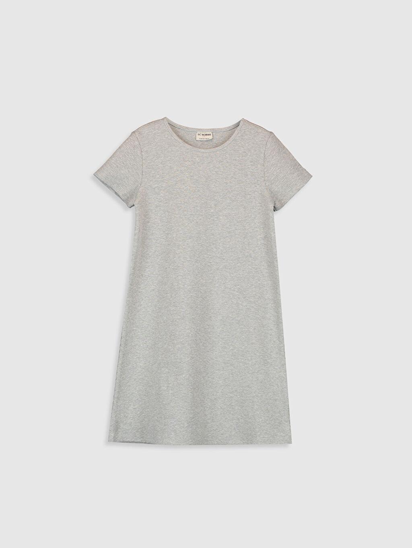 Gri Kız Çocuk Basic Elbise 0SB762Z4 LC Waikiki