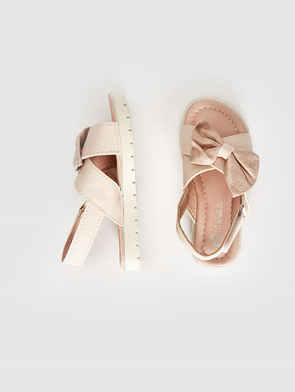 Kız Bebek Kız Bebek Fiyonk Detaylı Cırt Cırtlı Sandalet