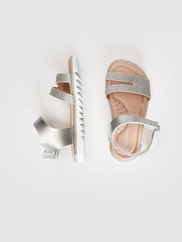 Sandalet PU Astar Işıksız Cırt Cırt Kız Bebek Sim Detaylı Cırt Cırtlı Sandalet