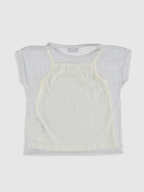 %100 Polyester %100 Polyester Kısa Kol Düz Standart Tişört Bisiklet Yaka Kız Çocuk Tişört ve Atlet