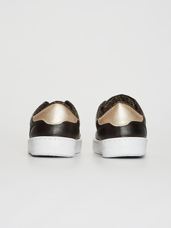 Kadın Minnie Mouse Baskılı Bağcıklı Günlük Ayakkabı