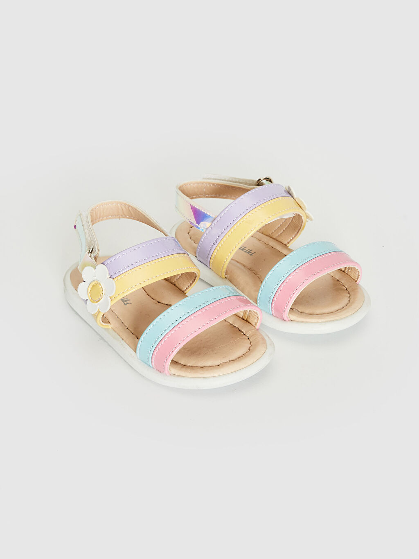 Çok Renkli Kız Bebek Hologram Detaylı Renkli Sandalet 0SC733Z1 LC Waikiki