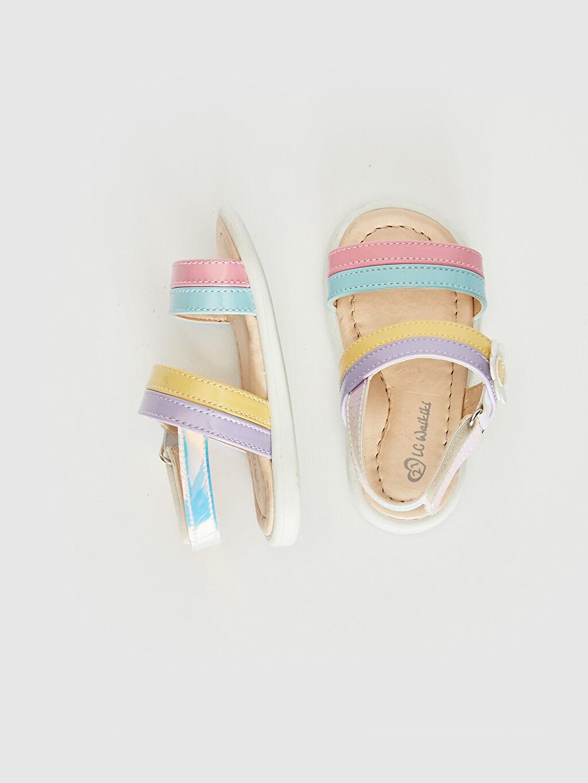 Kız Bebek Kız Bebek Hologram Detaylı Renkli Sandalet
