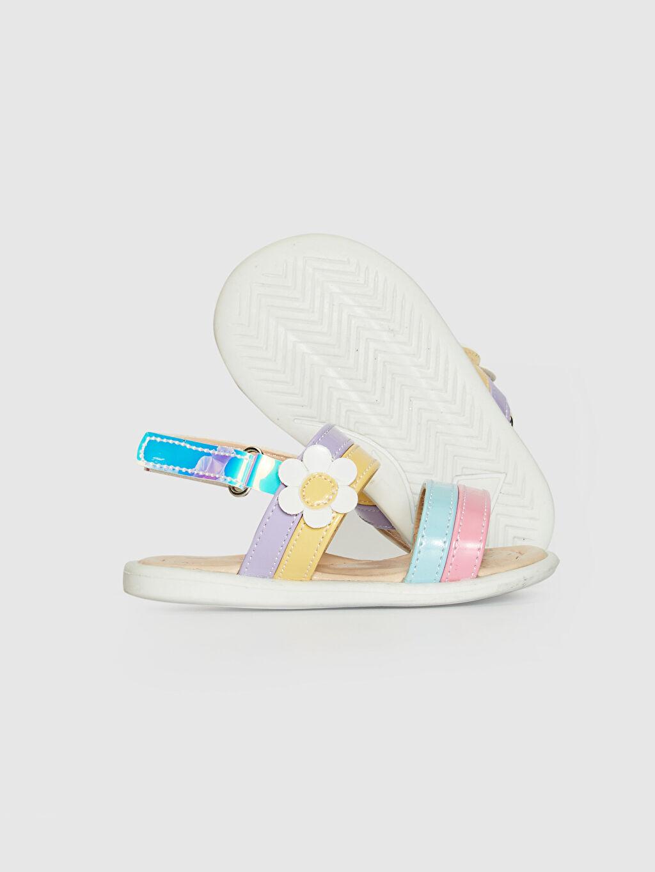 Kız Bebek Hologram Detaylı Renkli Sandalet
