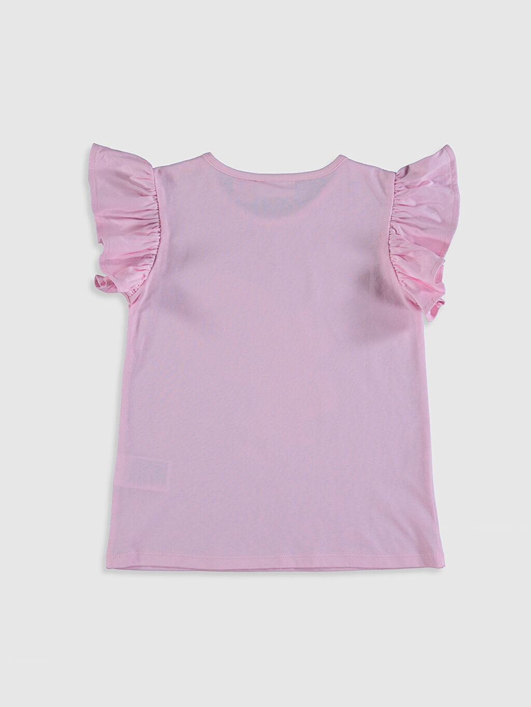 %100 Pamuk Standart Baskılı Tişört Bisiklet Yaka Kısa Kol Süprem Kız Çocuk Barbie Baskılı Pamuklu Tişört