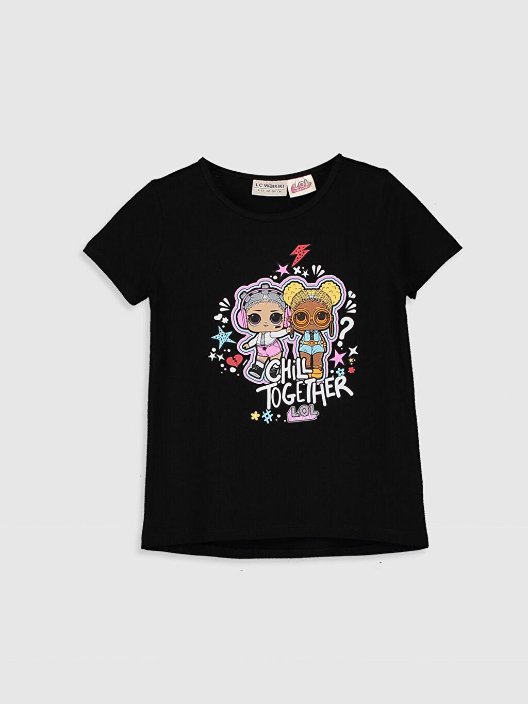 %100 Pamuk Standart İnce Baskılı Tişört LOL Bisiklet Yaka Kısa Kol Penye %100 Pamuk Kız Çocuk Lol Bebek Baskılı Pamuklu Tişört