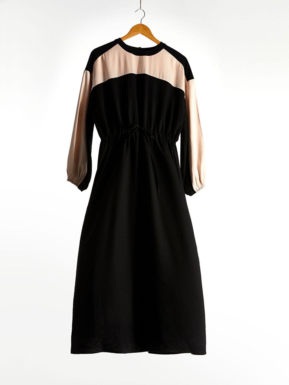 Siyah Renk Bloklu Viskon Elbise 0SD264Z8 LC Waikiki