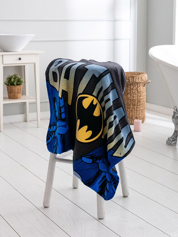 Çok Renkli Batman Lisanslı Kadife Banyo Havlusu 0SD331Z8 LC Waikiki