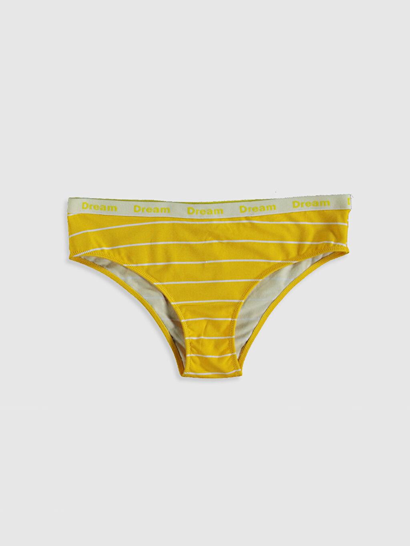 Sarı Desenli Hipster Külot 0SD731Z8 LC Waikiki