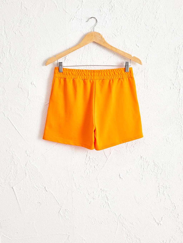 %50 Pamuk %50 Polyester Orta Kalınlık Casual Şort Standart İnce Sweatshirt Kumaşı Standart Beli Lastikli Şort