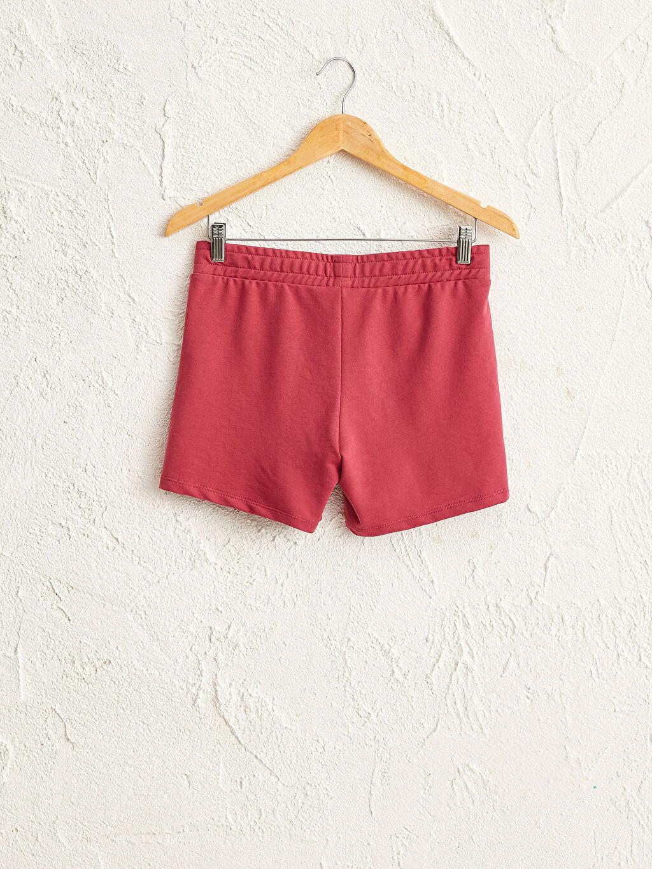 %50 Pamuk %50 Polyester Casual Standart Orta Kalınlık Standart Şort İnce Sweatshirt Kumaşı Beli Lastikli Şort