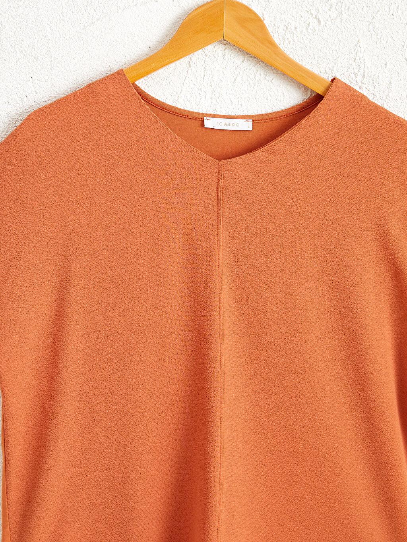 Kadın Düz Viskon Tişört