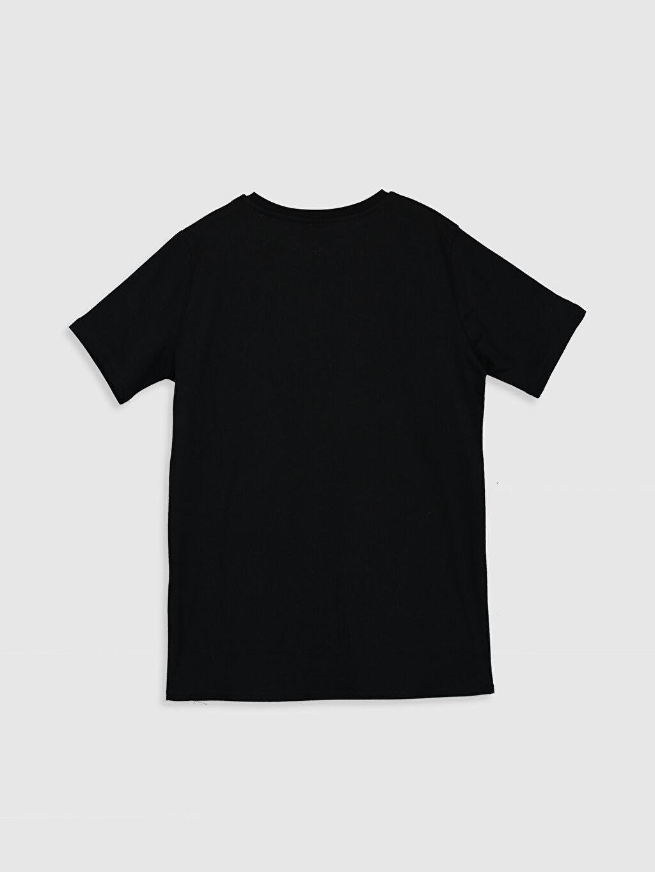 Siyah Erkek Çocuk Baskılı Tişört