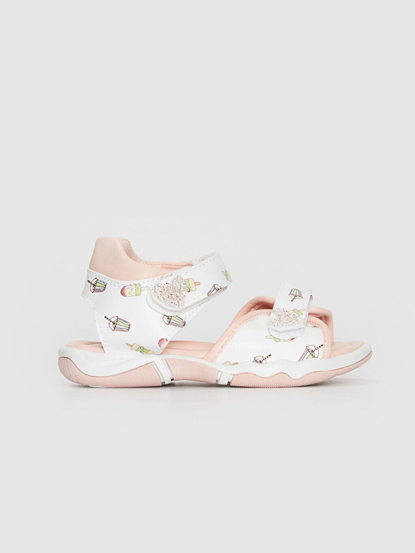 Beyaz Kız Bebek Cırt Cırtlı Sandalet 0SF846Z1 LC Waikiki