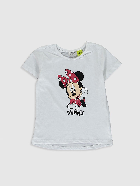 Kız Çocuk Minnie Mouse Baskılı Tişört 2'Li