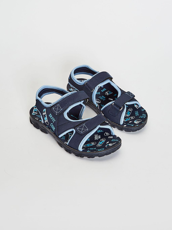 Lacivert Erkek Çocuk Cırt Cırtlı Sandalet 0SQ170Z4 LC Waikiki