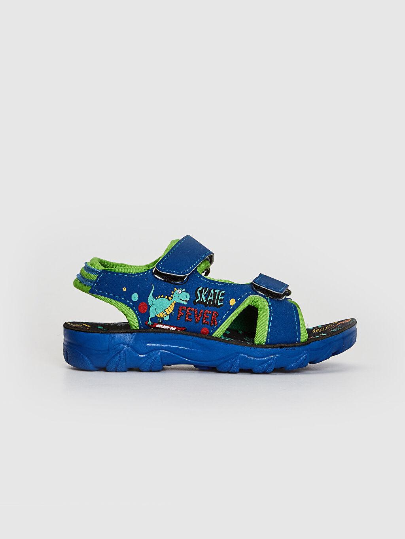 Mavi Erkek Çocuk Cırt Cırtlı Sandalet 0SQ172Z4 LC Waikiki