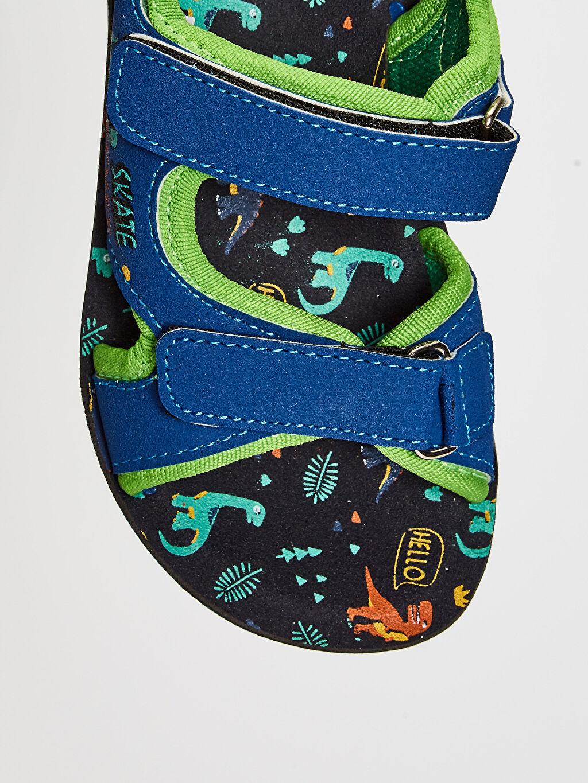 Mavi Erkek Çocuk Cırt Cırtlı Sandalet