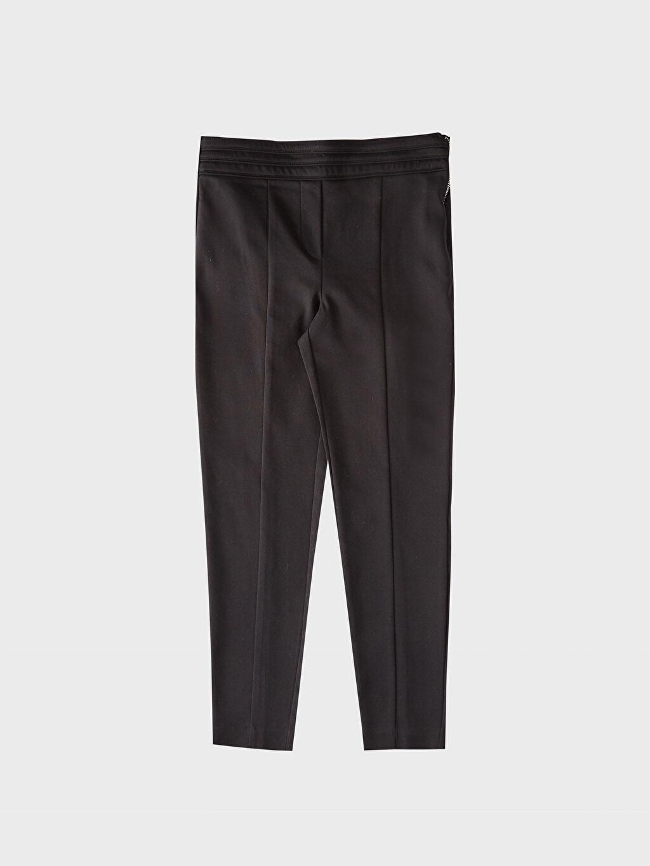 %54 Pamuk %42 Polyester %4 Elastan Çift Yüzlü Kumaş Skinny Pantolon Yüksek Bel Düz Dar Paça Bilek Boy Orta Kalınlık Bilek Boy Skinny Pantolon
