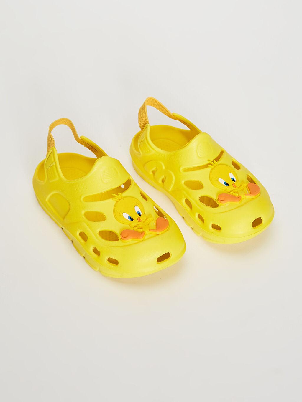Sarı Kız Bebek Tweety Lisanslı Lastikli Plaj Ayakkabısı 0SQ645Z1 LC Waikiki
