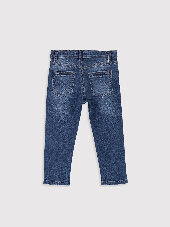 %98 Pamuk %2 Elastan %100 Pamuk Aksesuarsız Astarsız Beş Cep Skinny Jean Düz Erkek Bebek Jean Pantolon