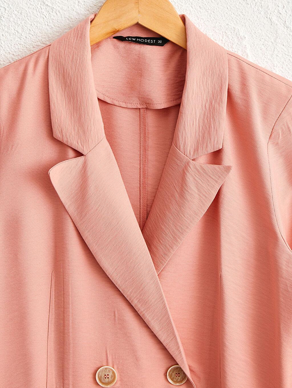 0SR013Z8 Dokulu Kumaştan Blazer Ceket