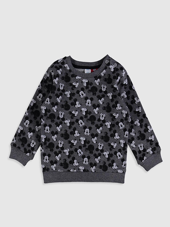 Erkek Bebek Erkek Bebek Mickey Mouse Baskılı Takım 2'li