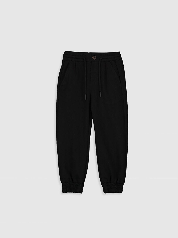 Siyah Erkek Çocuk Jogger Pantolon 0SR393Z4 LC Waikiki