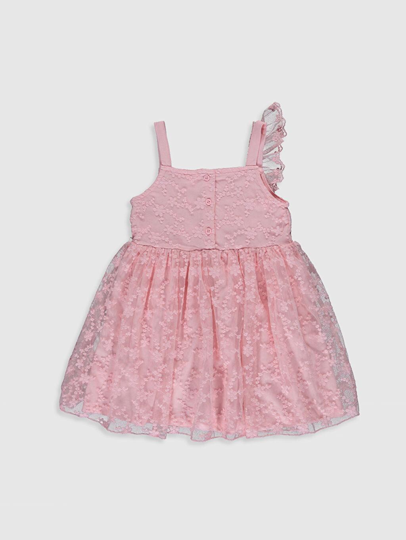 %48 Pamuk %52 Polyester %100 Pamuk Orta Kalınlık Kolsuz Kare Yaka Elbise Tül Standart Baskılı Şık Kız Bebek Dantel Elbise