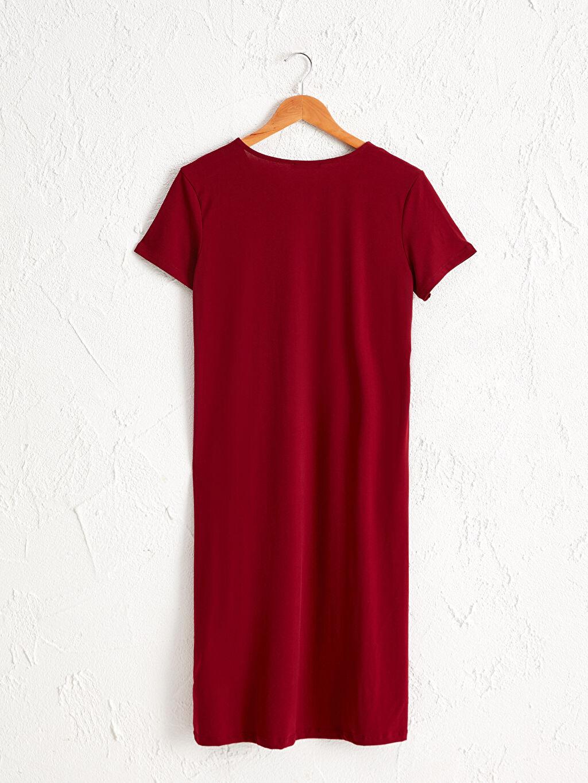 Kadın V Yaka Esnek Elbise