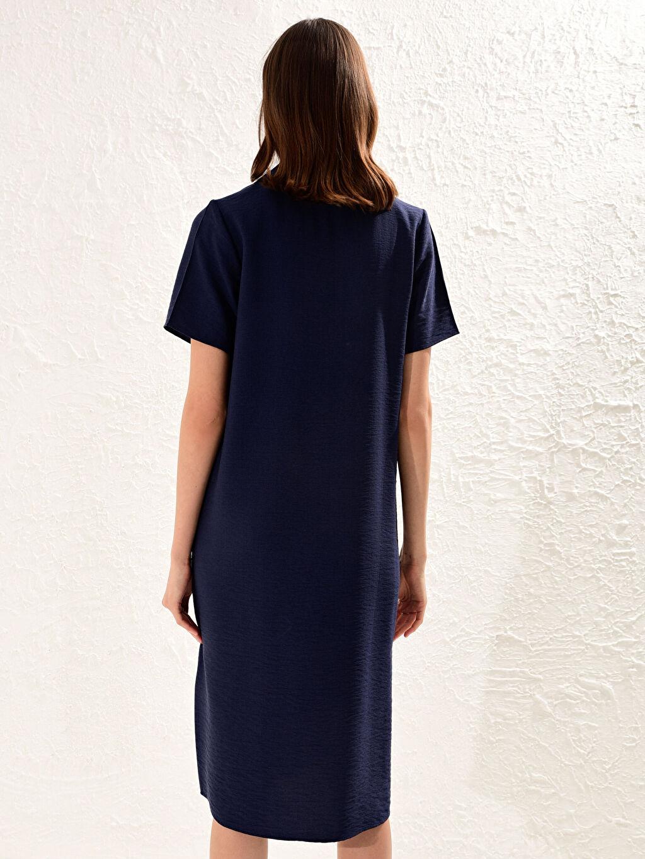Kadın Armürlü Viskon Elbise