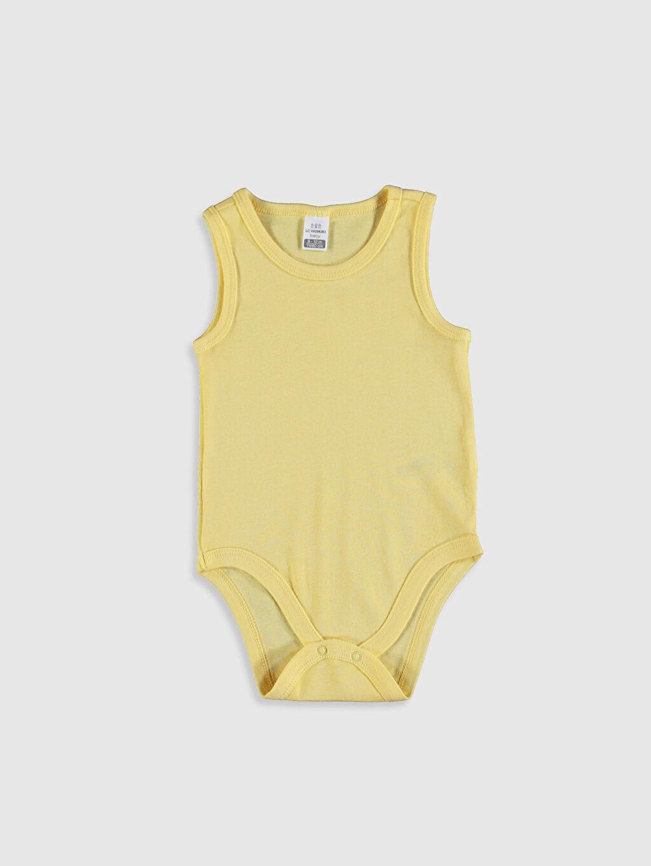 Sarı Kız Bebek Çıtçıtlı Body 0SS040Z1 LC Waikiki