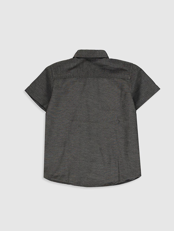 %56 Pamuk %44 Polyester Düz Standart Kısa Kol Gömlek %100 Pamuk Erkek Çocuk Kısa Kollu Gömlek