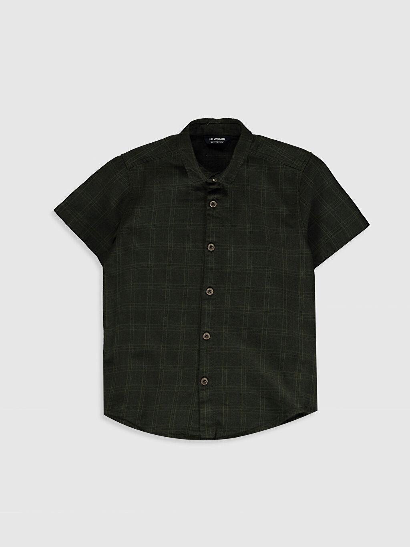 Haki Erkek Çocuk Kısa Kollu Gömlek 0SS254Z4 LC Waikiki