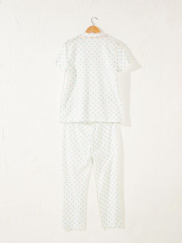 Kadın Puantiyeli Pamuklu Hamile Pijama Takımı