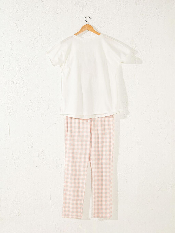 Kadın Slogan Baskılı Pamuklu Hamile Pijama Takımı