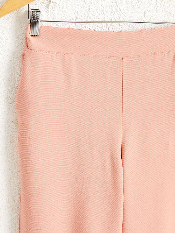 0SS928Z8 Beli Lastikli Bilek Boy Düz Paça Harem Pantolon