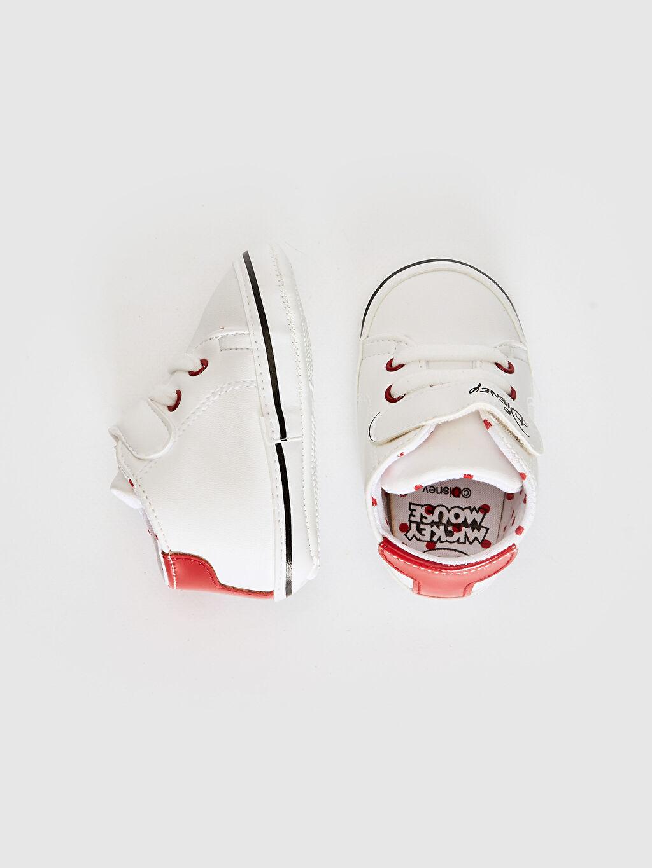 %0 Diğer malzeme (poliüretan) Bağcık ve Cırt Cırt Işıksız Pamuk Astar Yürümeyen Minnie Mouse Kız Bebek Minnie Mouse Lisanslı Yürüme Öncesi Ayakkabı