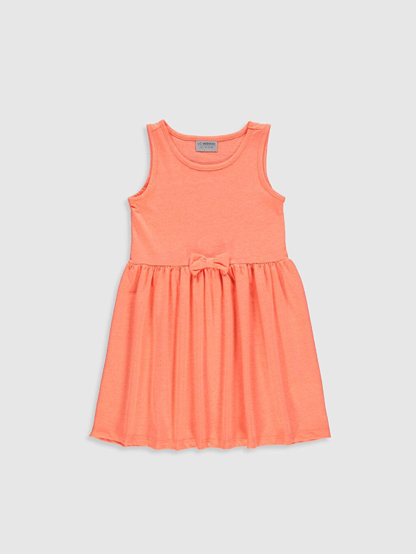 Turuncu Kız Çocuk Pamuklu Elbise 0ST561Z4 LC Waikiki