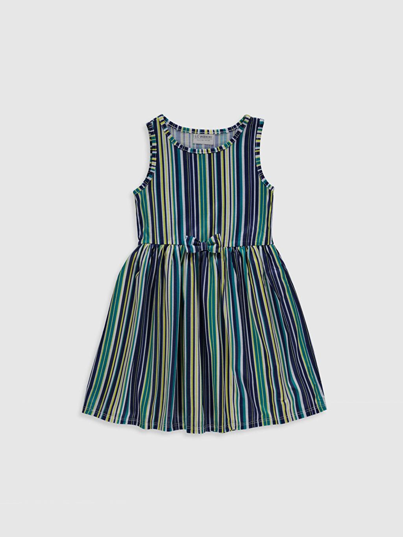 Yeşil Kız Çocuk Pamuklu Elbise 0ST561Z4 LC Waikiki