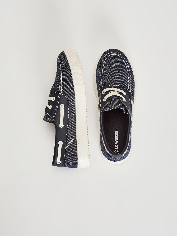 Klasik Ayakkabı Bağcık Işıksız Erkek Çocuk Bağcıklı Klasik Bez Ayakkabı
