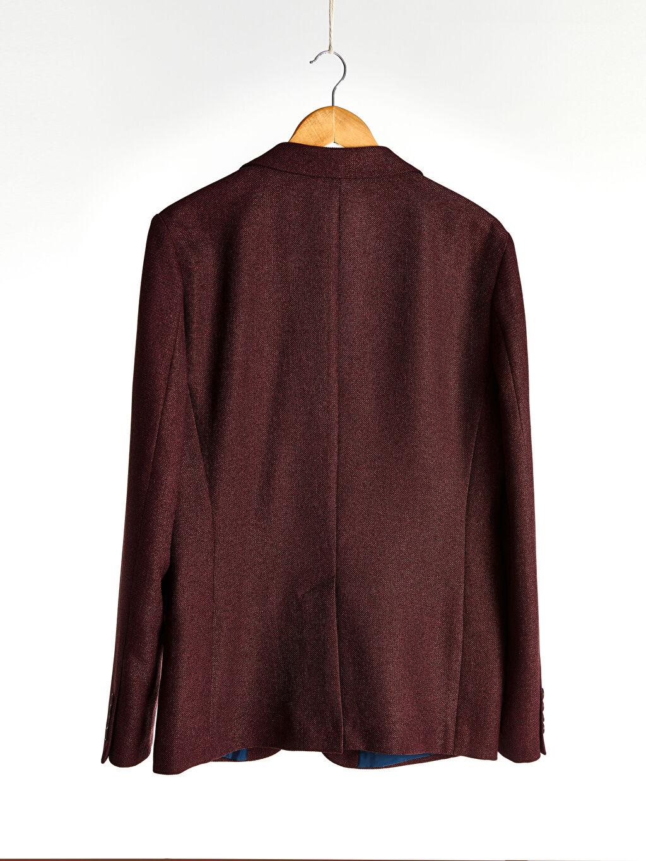 %100 Polyester %100 Polyester Uzun Kol İnce Astarsız Dar Kendinden Desenli Blazer Ceket Dar Kalıp Blazer Ceket