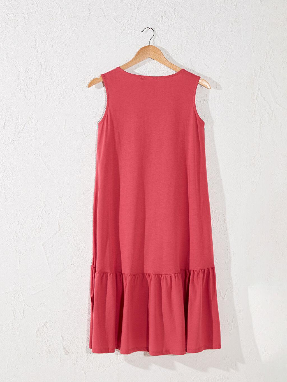 Kadın Fırfır Detaylı Pamuklu Hamile Elbise